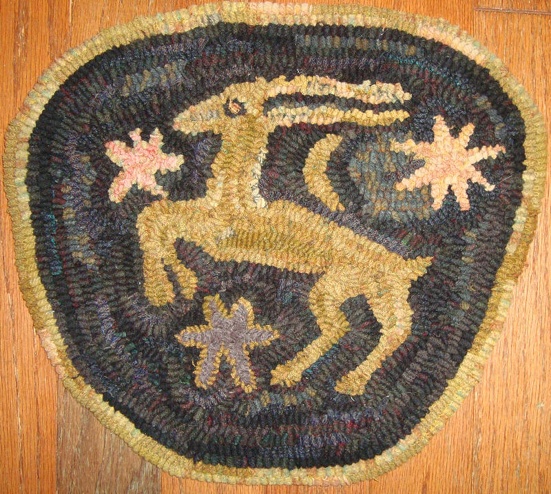 This Is An Adaptation Of Antique Rug Hooked In The 1870s I Have Adapted It Into A Chair Pad For Myself But You Could Always Make Circle As